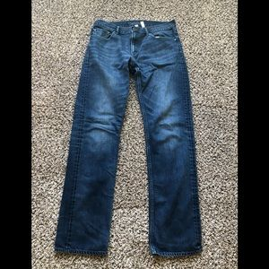 Banana Republic straight fit jeans denim 34x36.